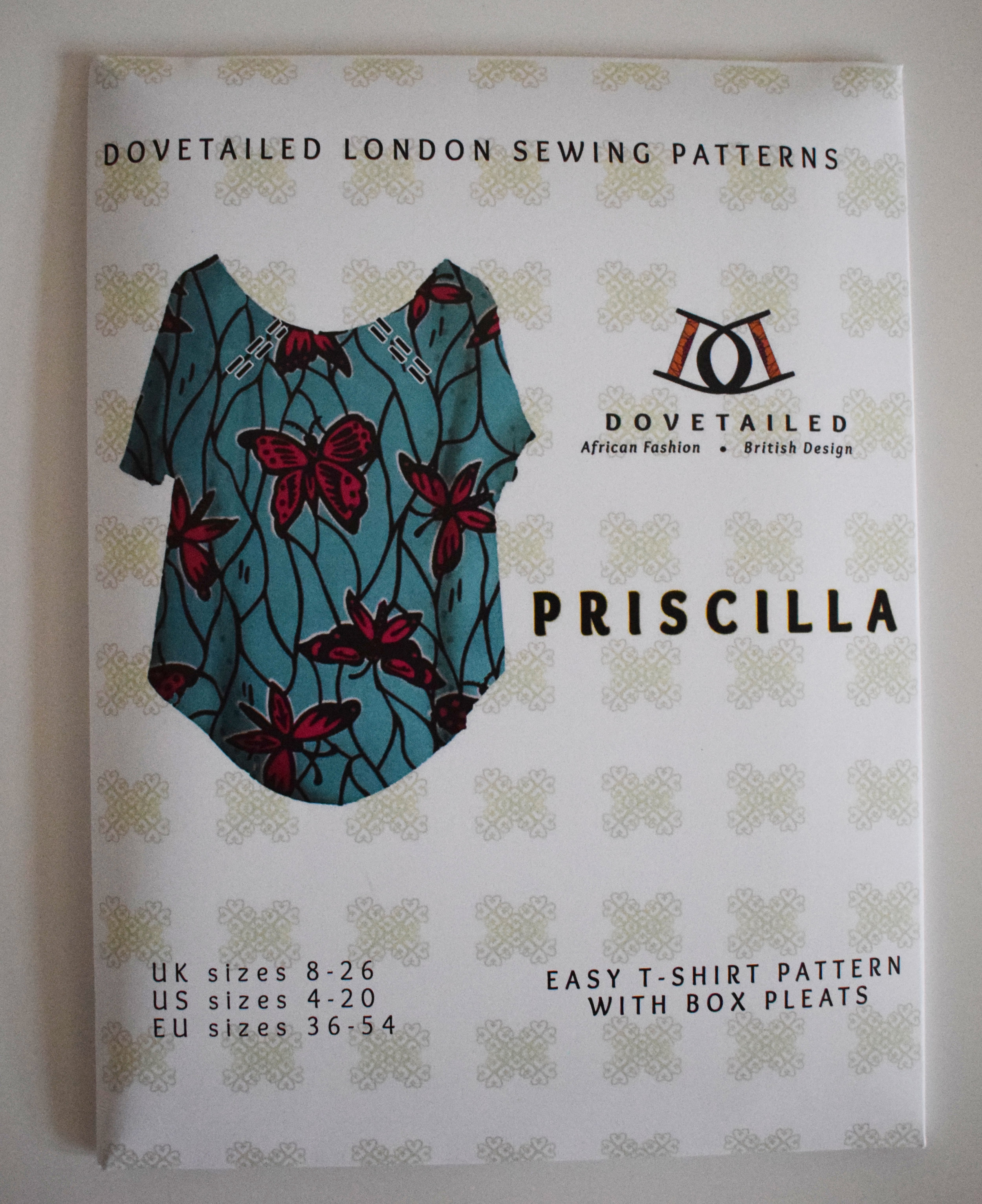 Priscilla Top sewing pattern from Dovetailed