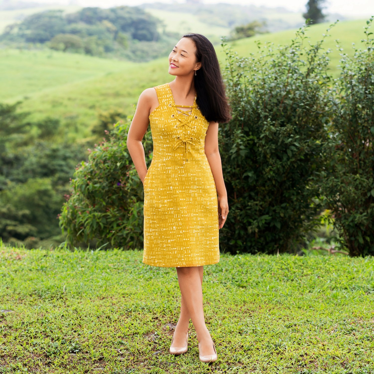Oia Dress sewing pattern by Itch to Stitch