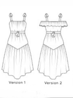 Lavender top/dress sewing pattern from Glasshouse Patterns