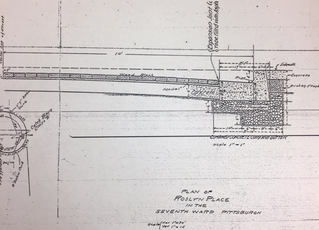 Thomas Rodd's Original 1913 Schematic for Roslyn Place.
