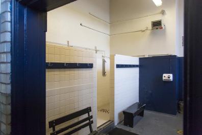 View of Second Floor Showers in Women's Toilet