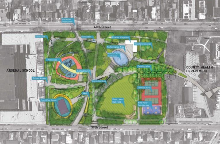 """Arsenal Park Master Plan"", Pittsburgh Parks Conservancy."