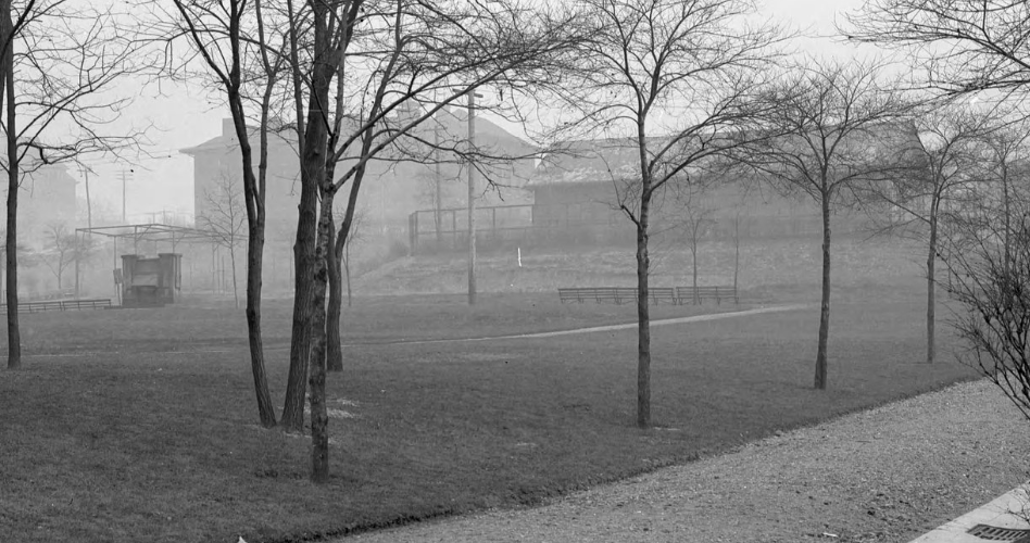 """""""Arsenal Park"""" (detail), Pittsburgh City Photographer Collection, January 10, 1910."""