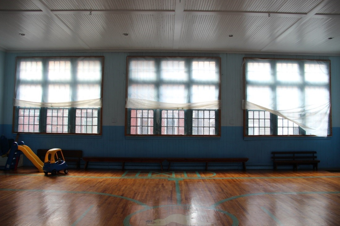 72 View north showing detail of interior of gym windows.jpg