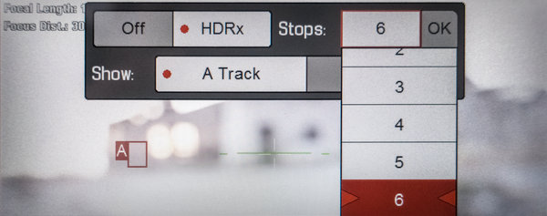 RED EPIC HDRx Menu