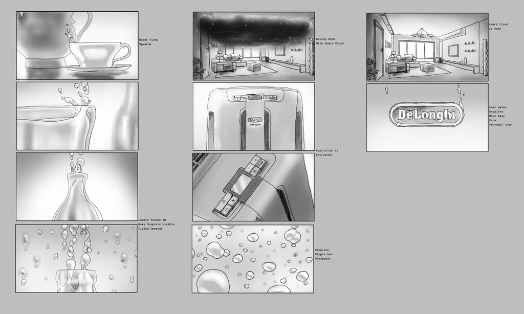 Storyboard for one of the concepts we explored.