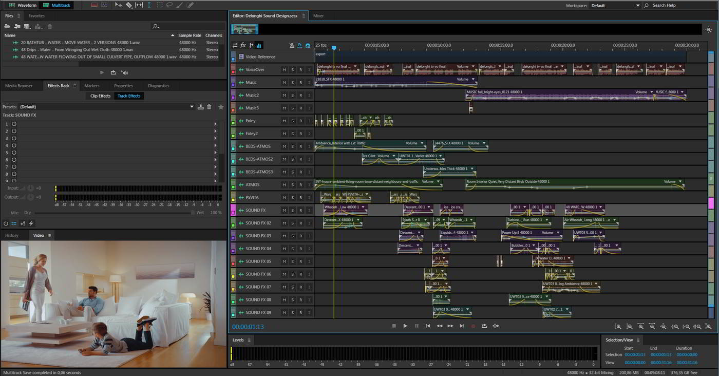 Sound Design Project. Click to Enlarge.