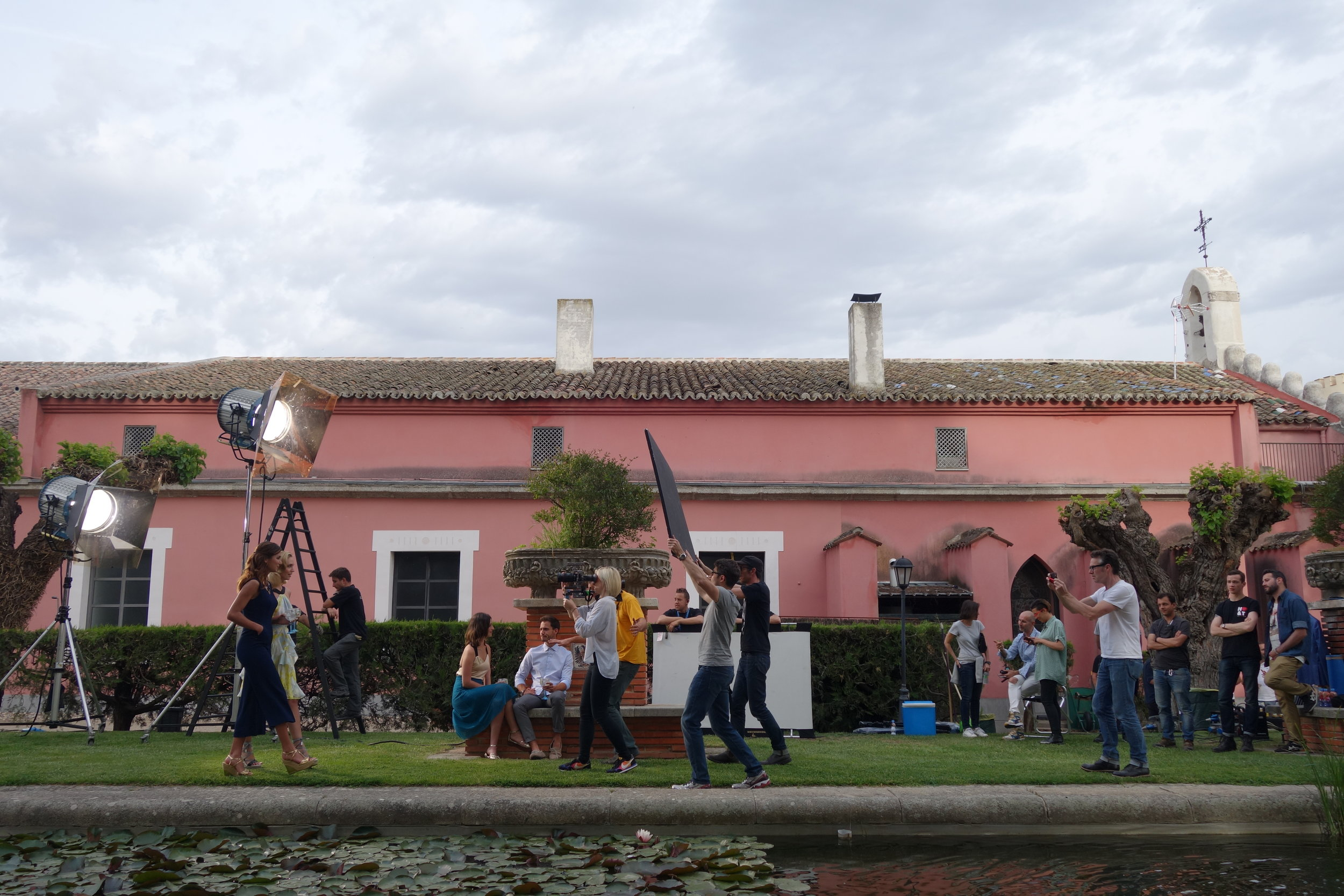 On set for Bombay Sapphire.