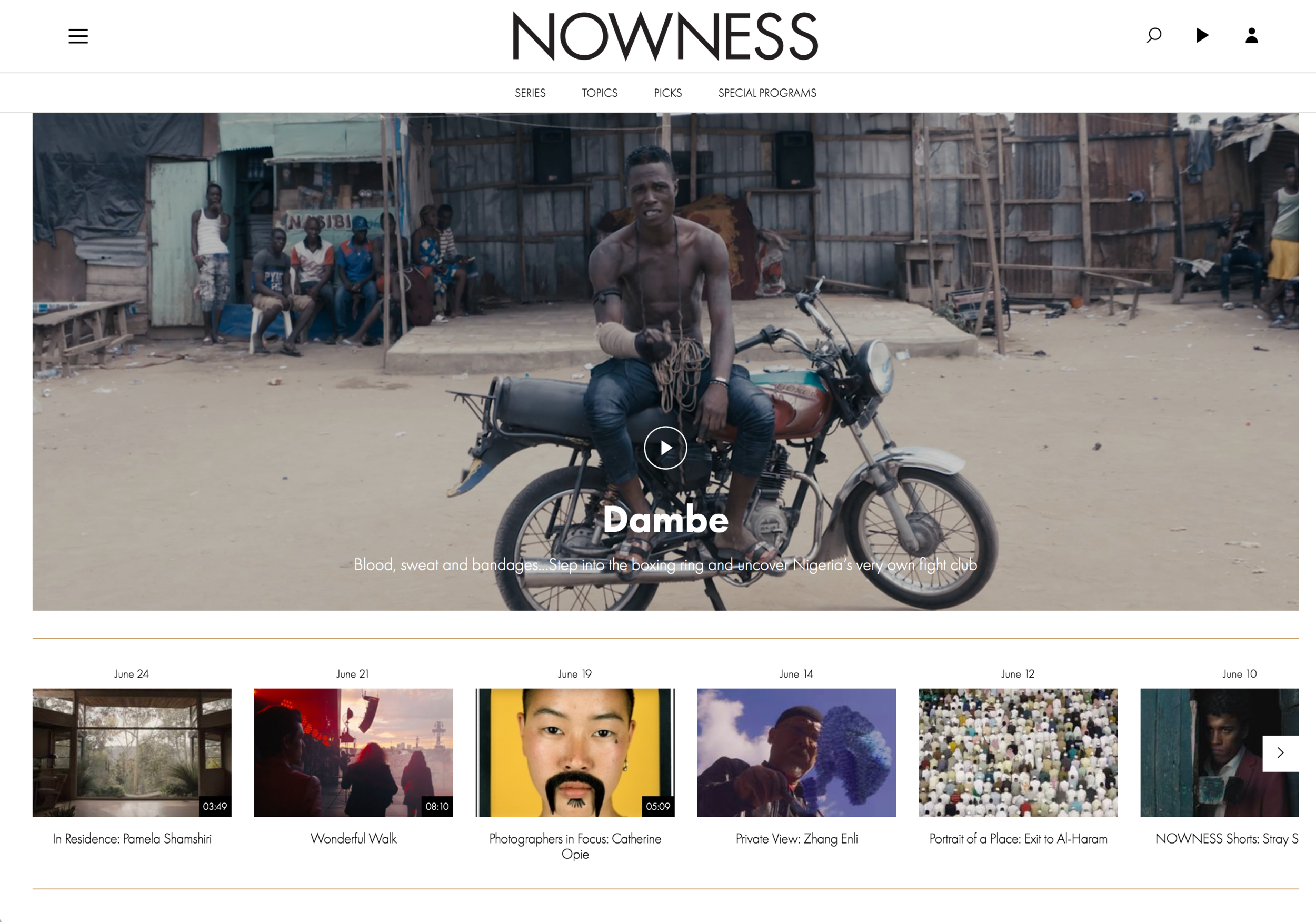 Nowness Dambe Premiere.png