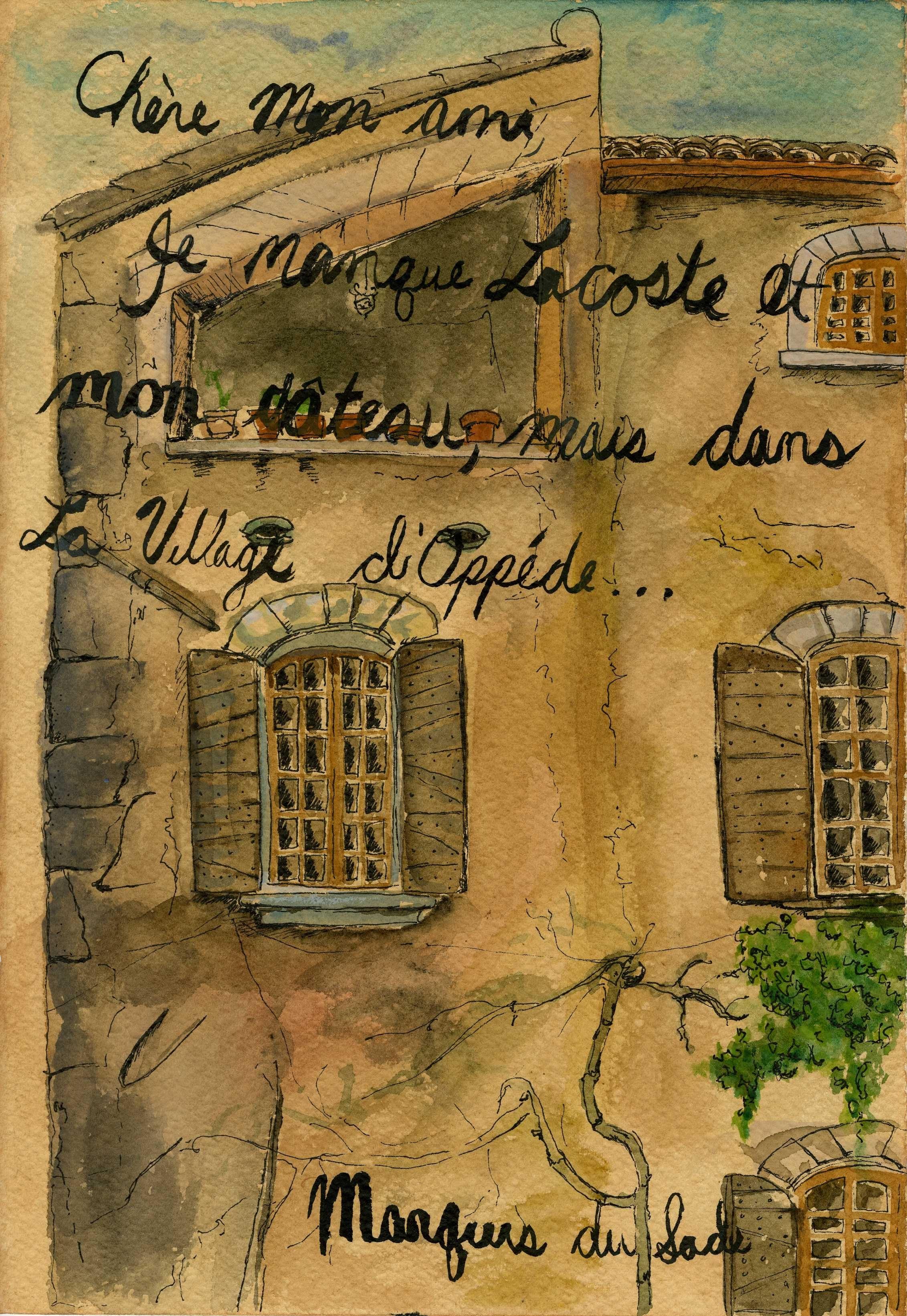 Marquis du Sade Letter