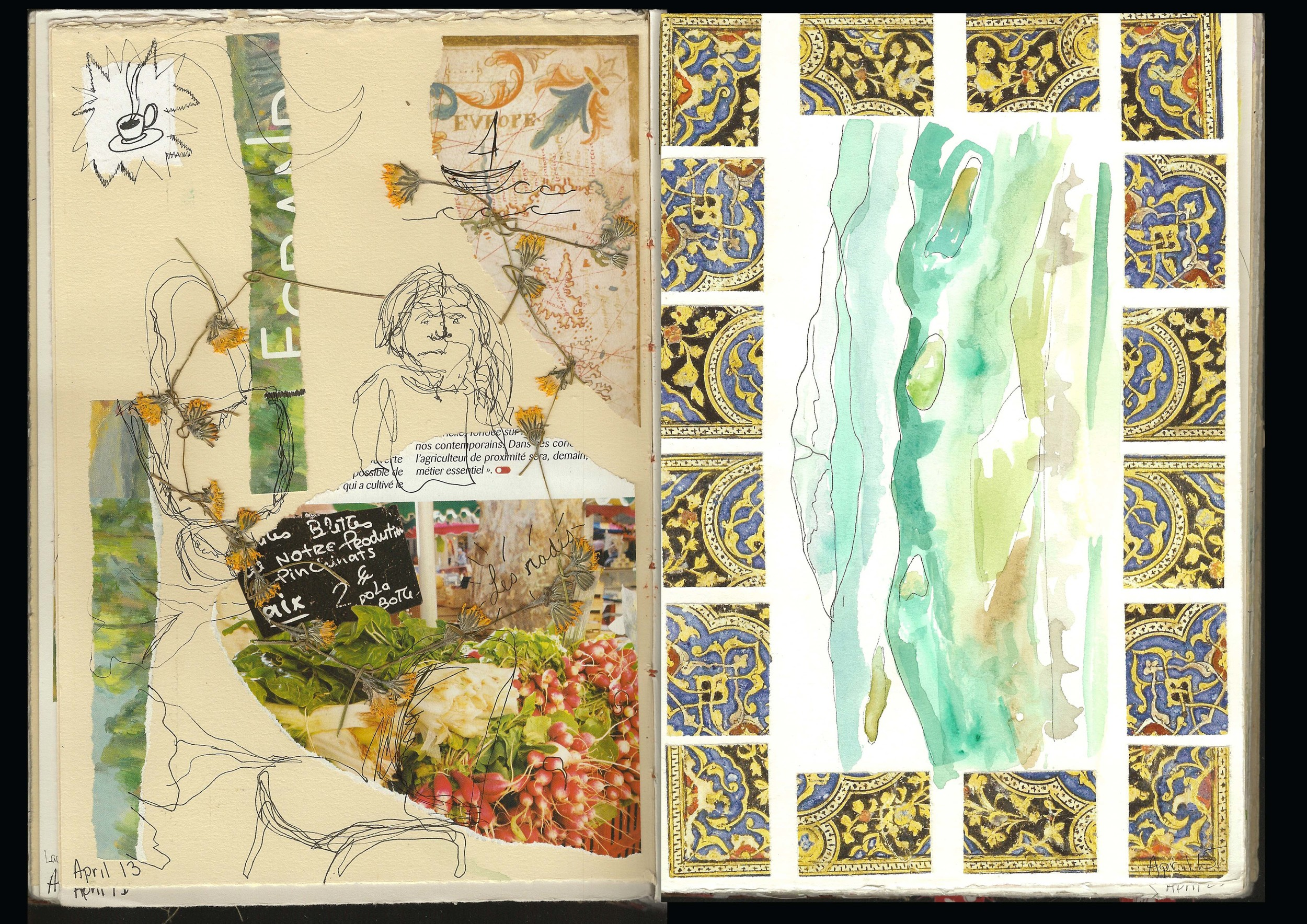 Mountain Tops Sketch Book Pages