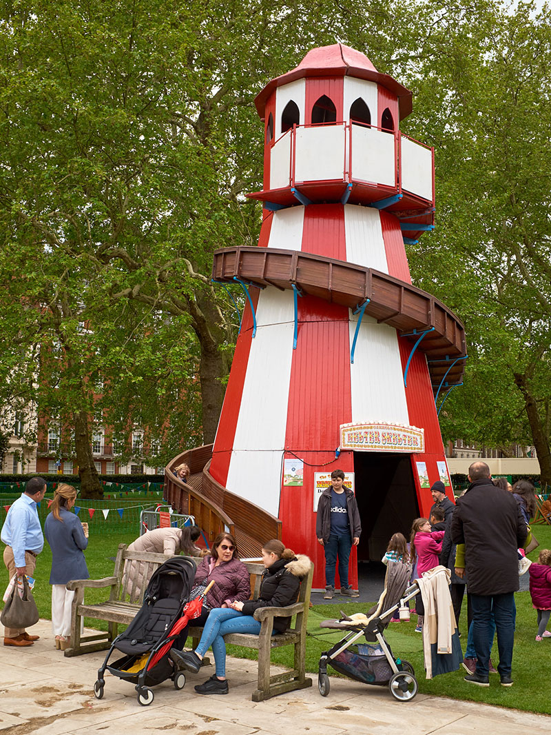 The Helter Skelter becomes a hive of activity.