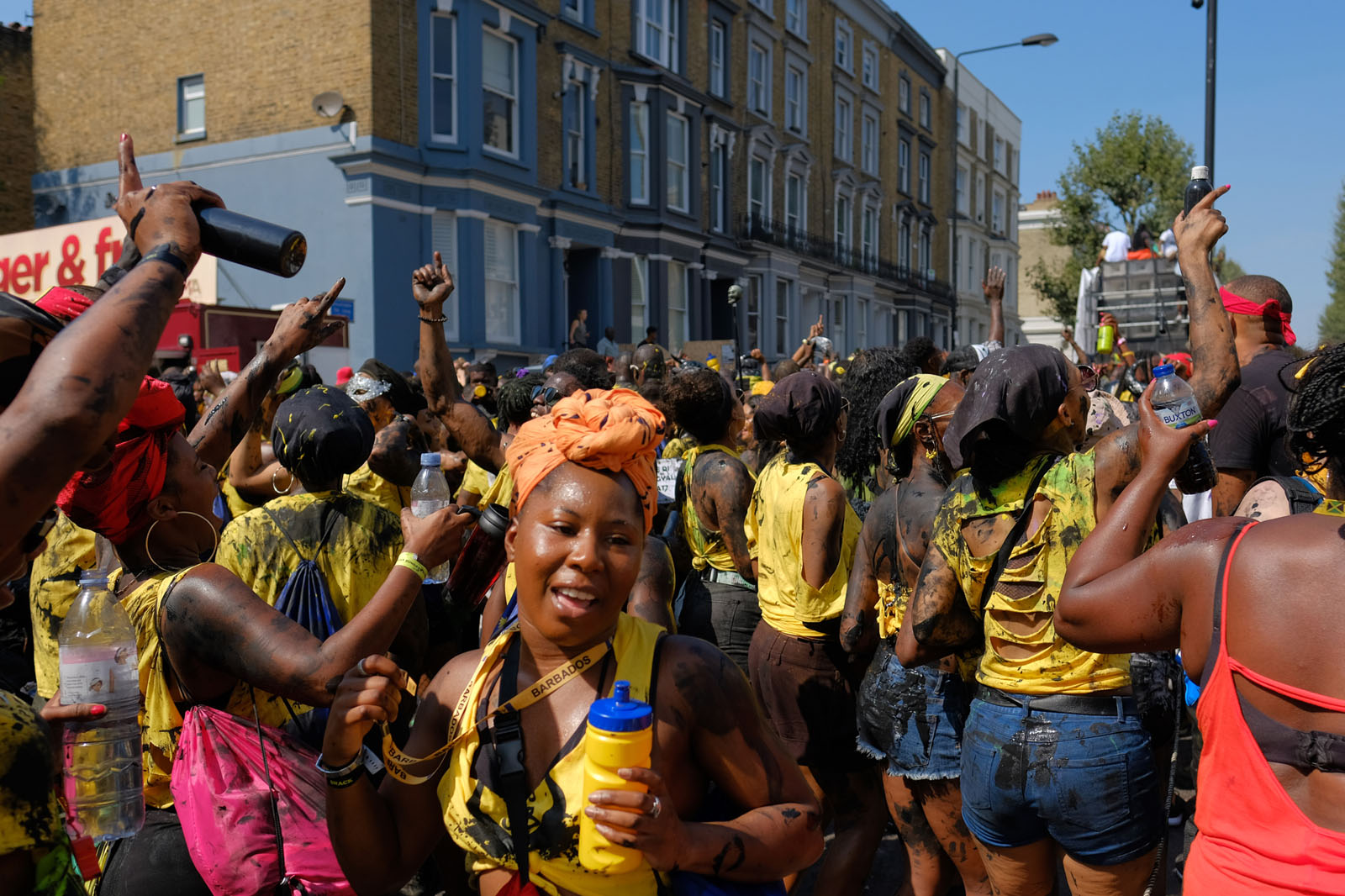 London Notting Hill carnival concrete soldiers Leon Tyler fuji x-Pro 2 16mm 1.4 street photography