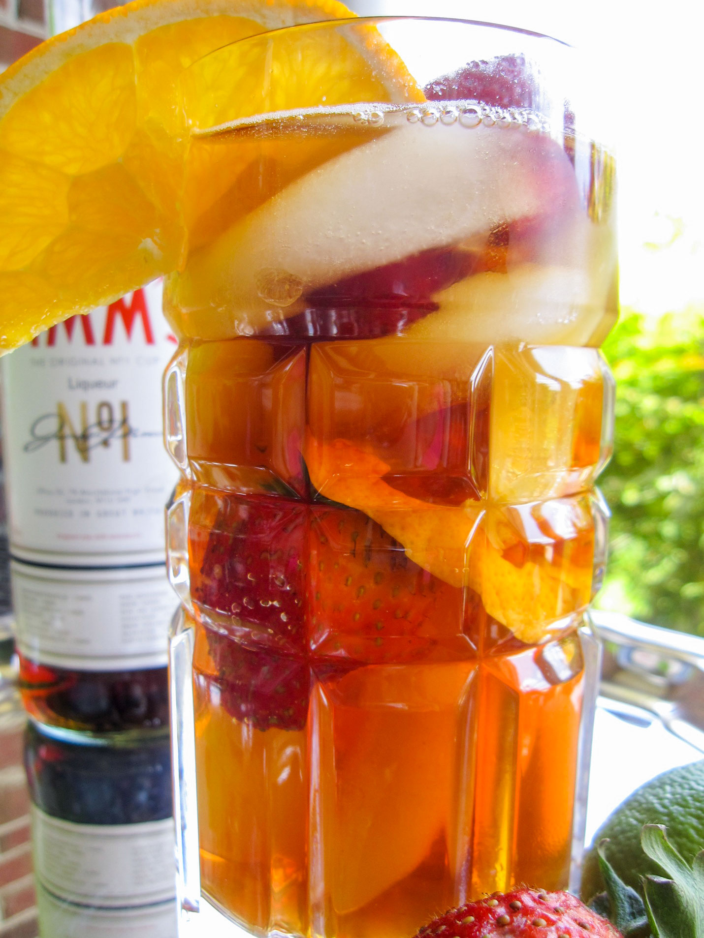 To make the Pimm's cup - Layer a silver cup or tall glass with ice, strawberries, orange slices, melon or cucumber wedges.1. Quarter organic oranges2. Pour in 1 shot Pimm's No. 13. Fill to the top with the Chilled Ascot Tea4. Squeeze the quartered orange juice on top and place the wedge into the drink. Stir and garnish with a strawberry & orange slice on rim of glass and a sprig of fresh mint.