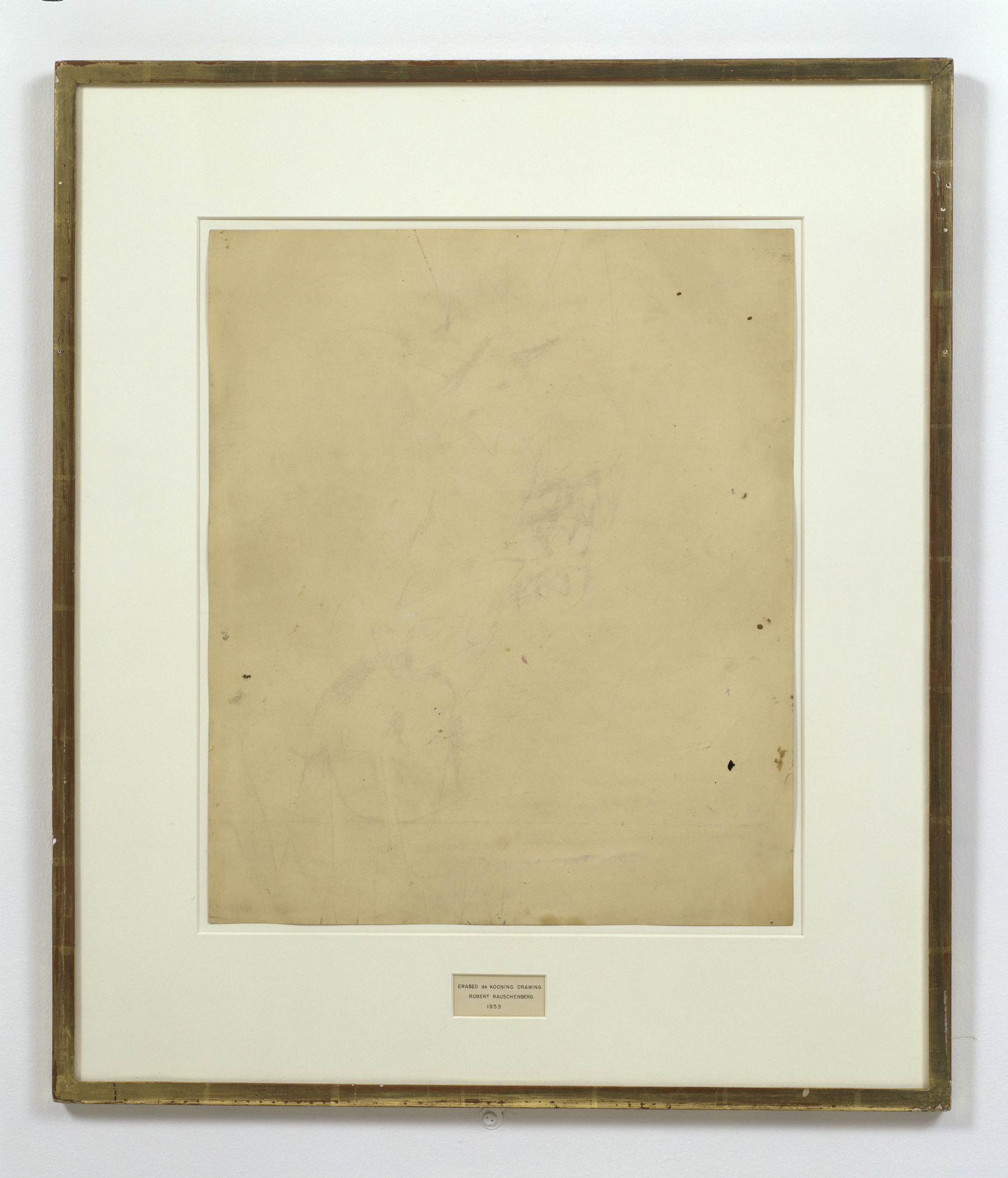 Erased De Kooning Drawing - Robert Rauschenberg - 1953