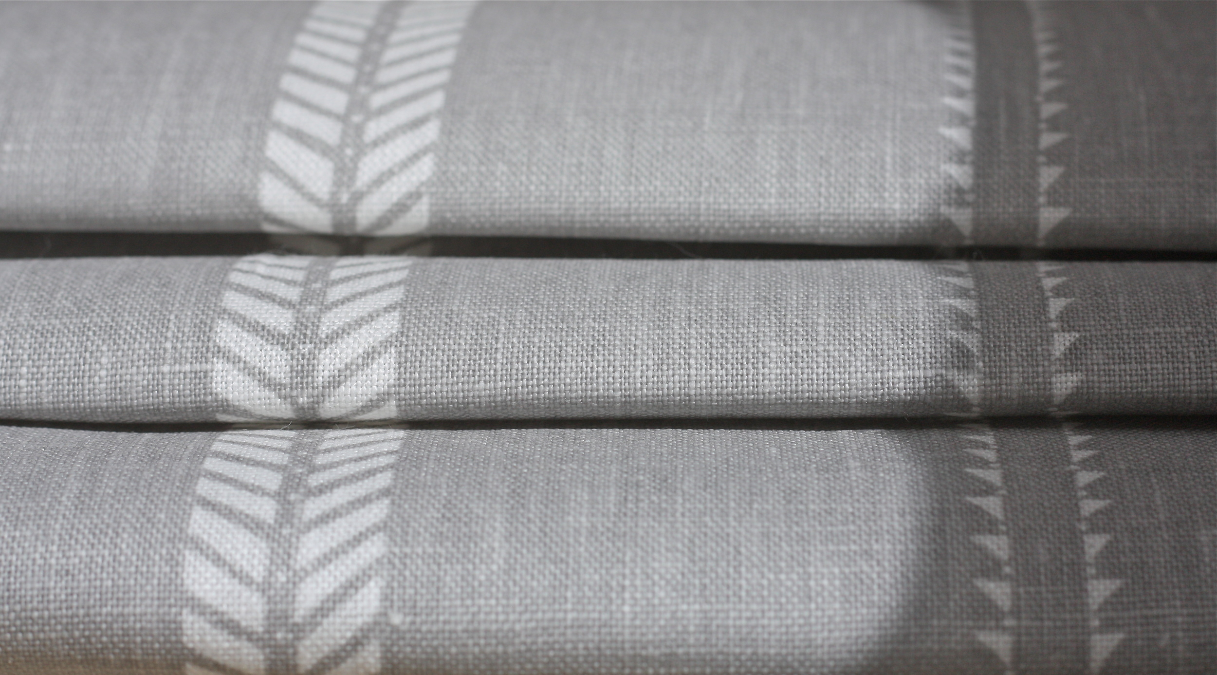 SLADE STRIPE IN ROCK GREY LINEN