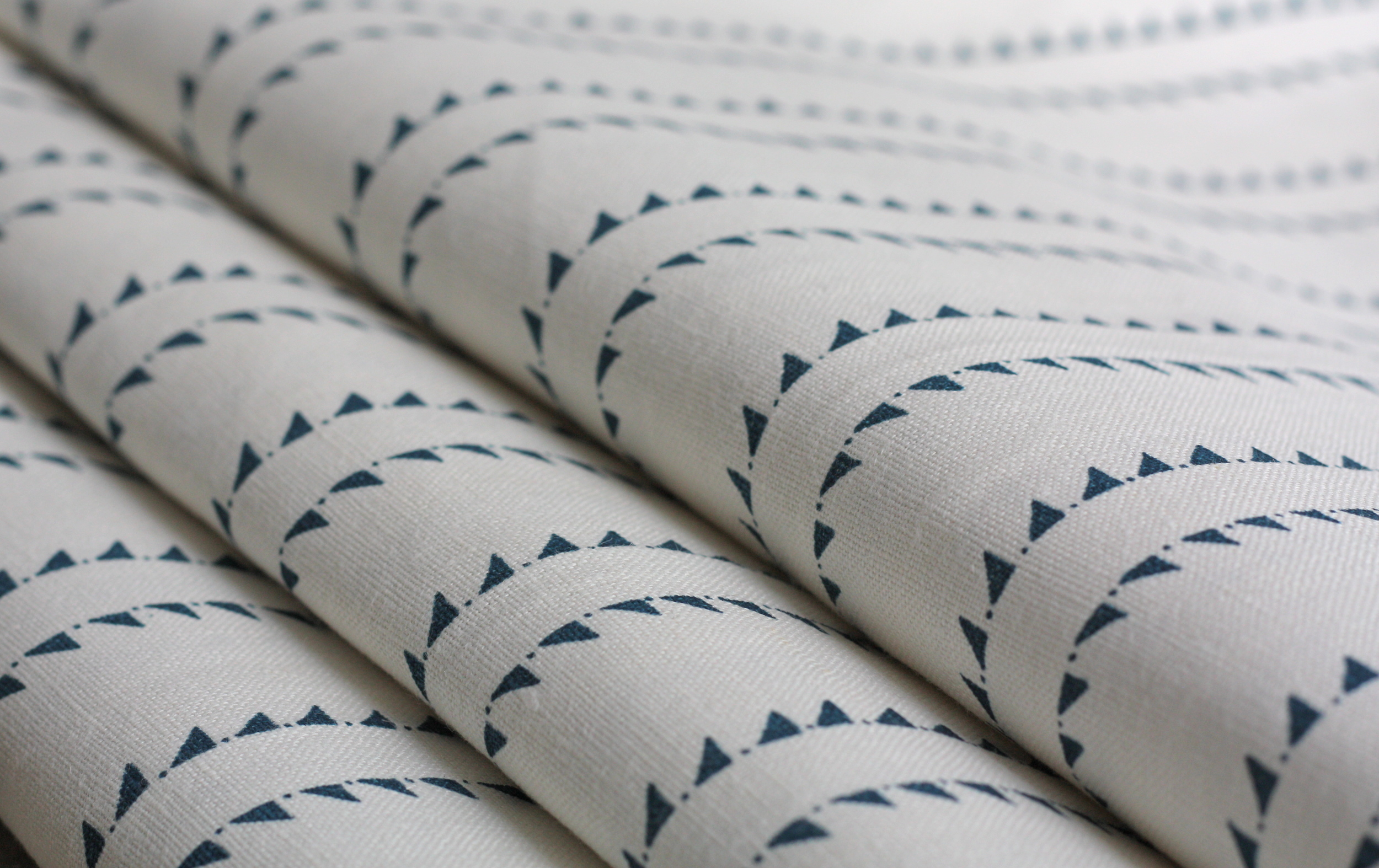 WINDMILL WOOD INKY SKY STRIPE LINEN
