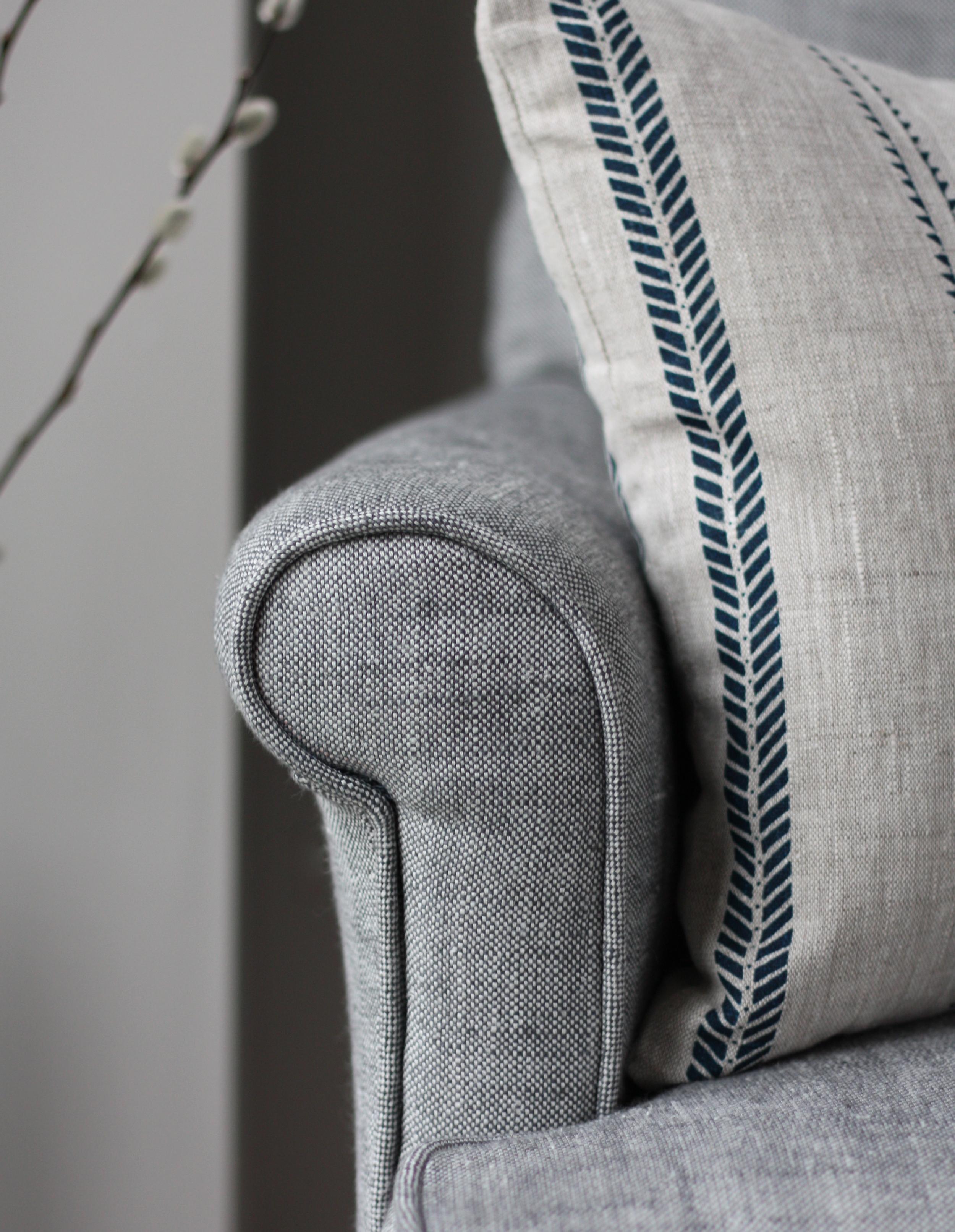 Plain Grey Linen Woven Fabric Zoe Glencross
