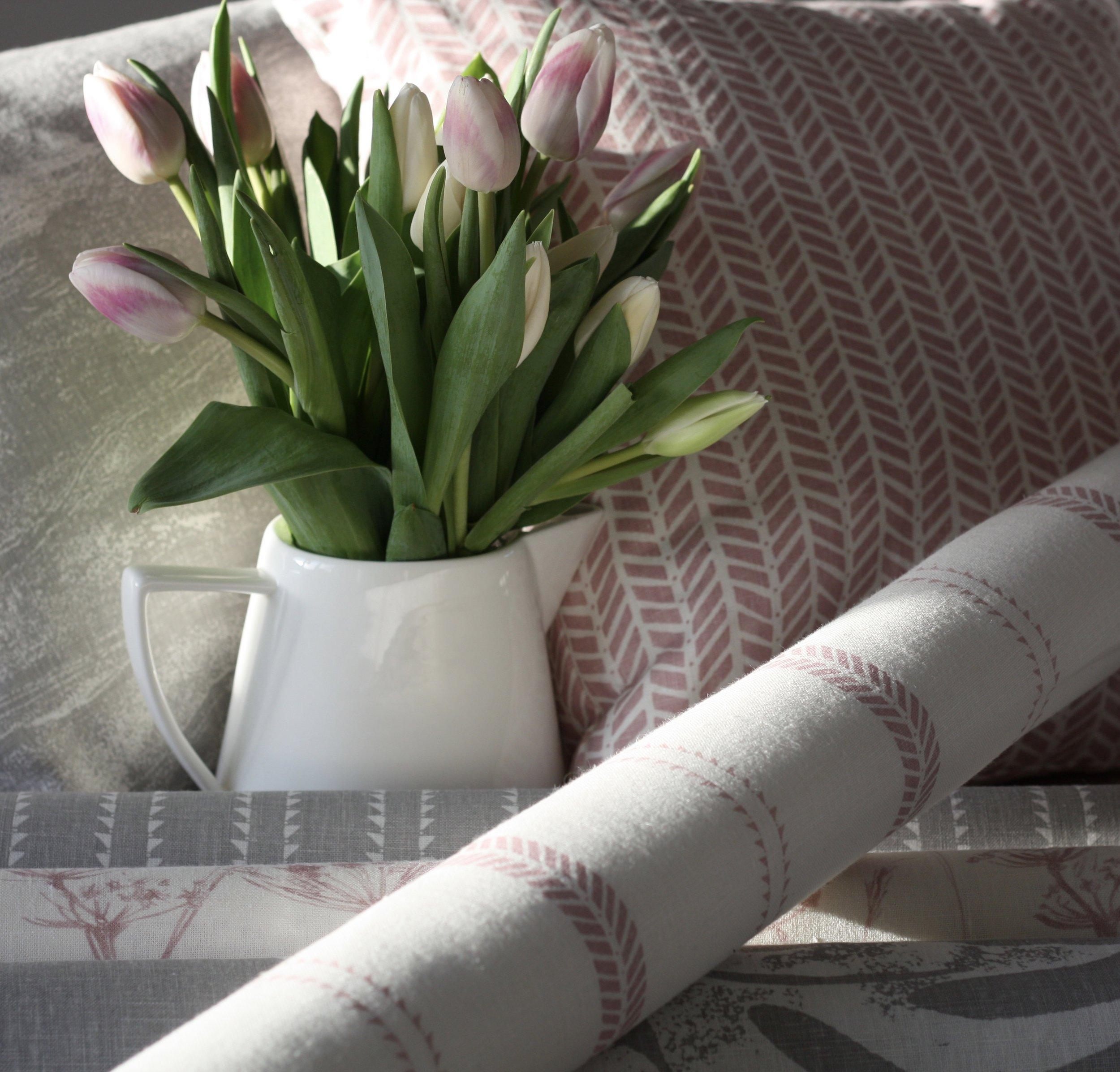 Petal Pink Linen Fabric