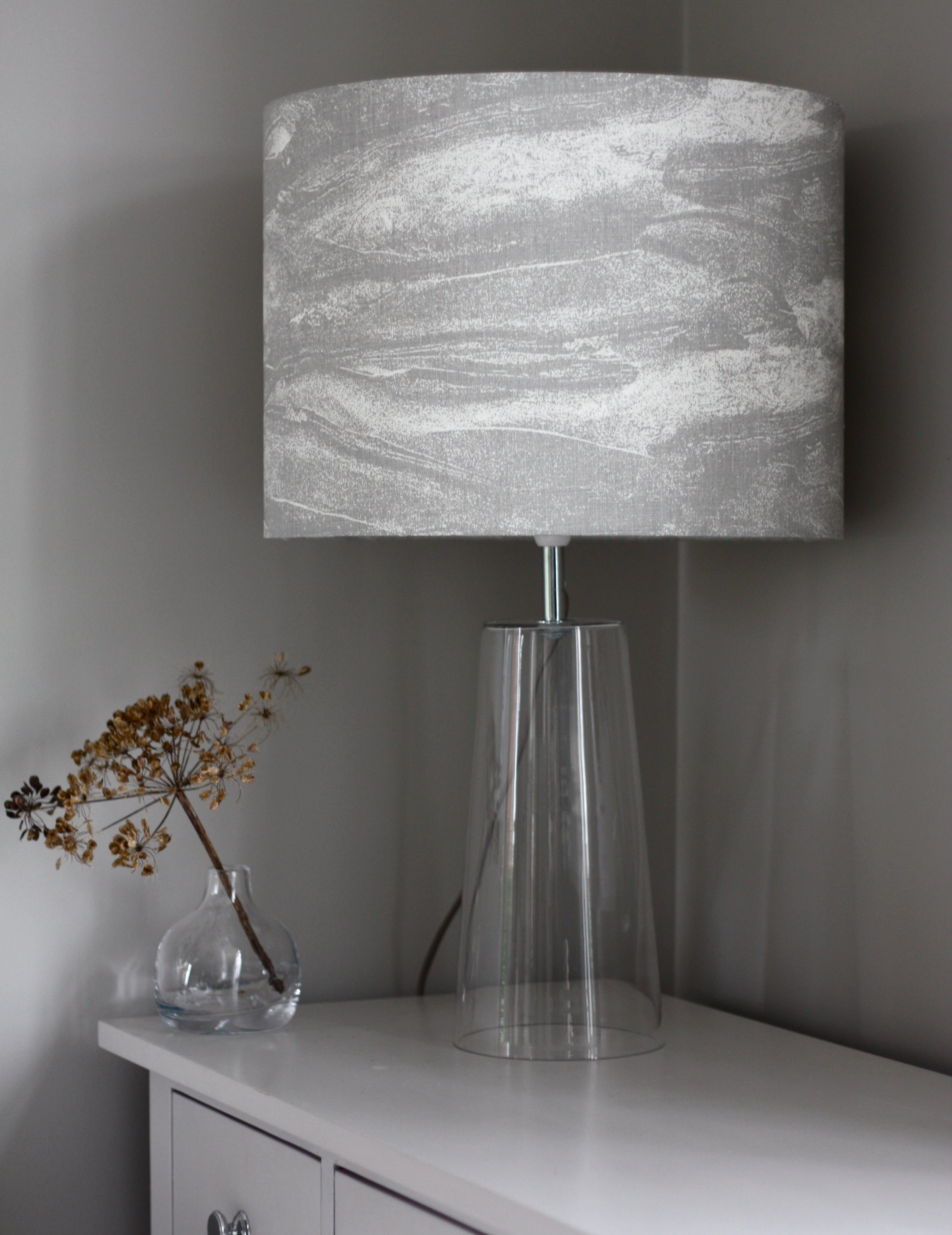 Devon Rockpool Lampshade in Rock Grey