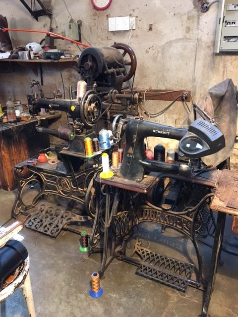 Leather shoe workshop