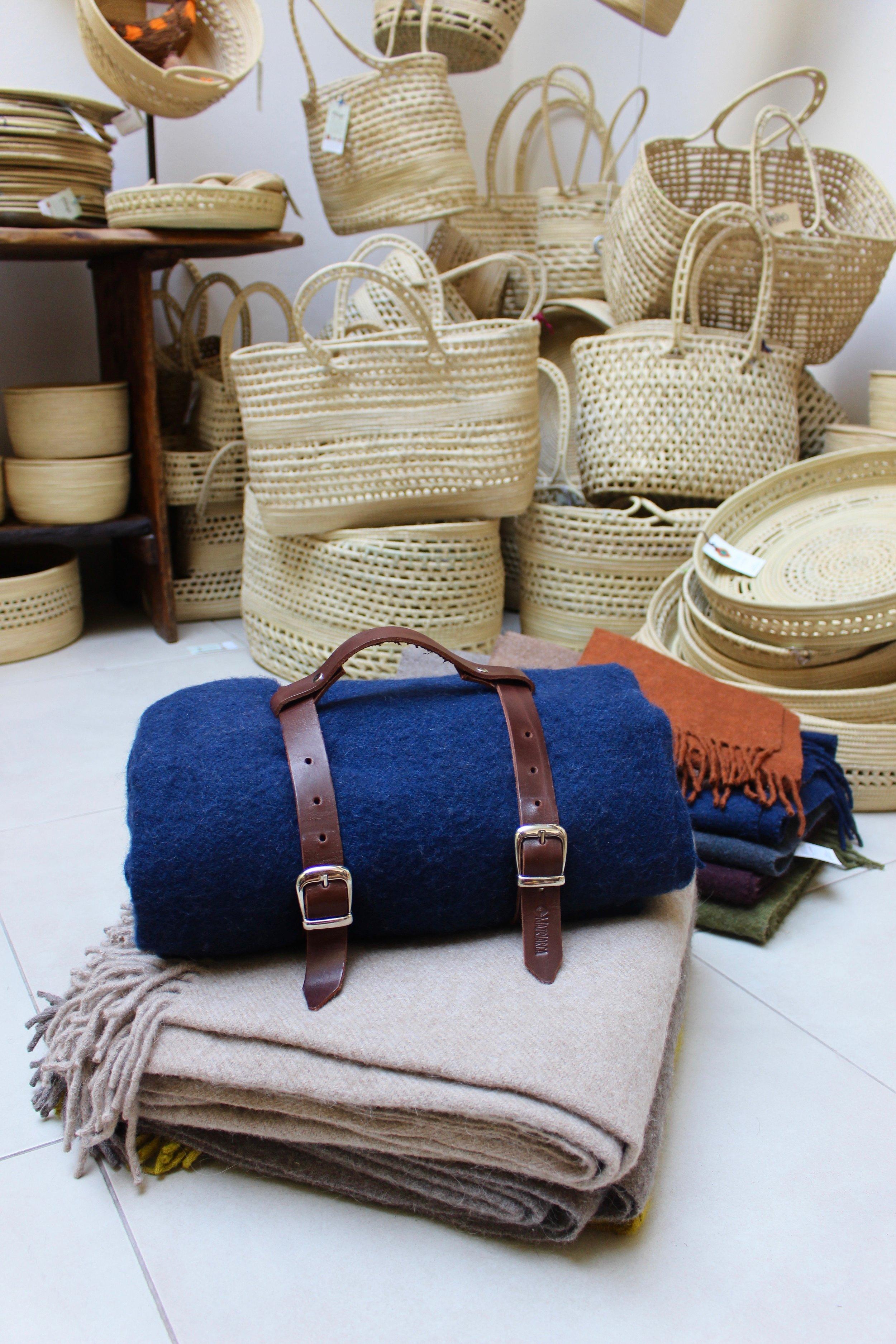 Handmade artisanal llama wool blankets