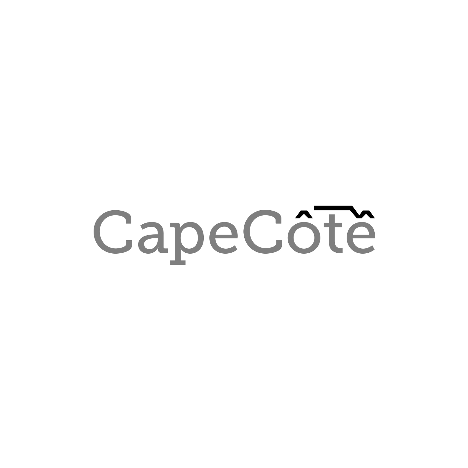 The circumflex accent becomes an element of the Table Top Mountain –a distinctive feature of Cape Town, where this clothing company is based.