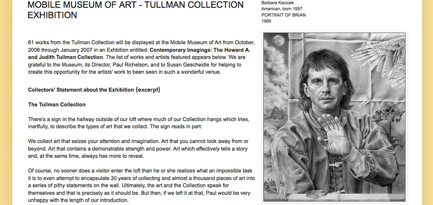 HOWARD TULLMAN COLLECTION