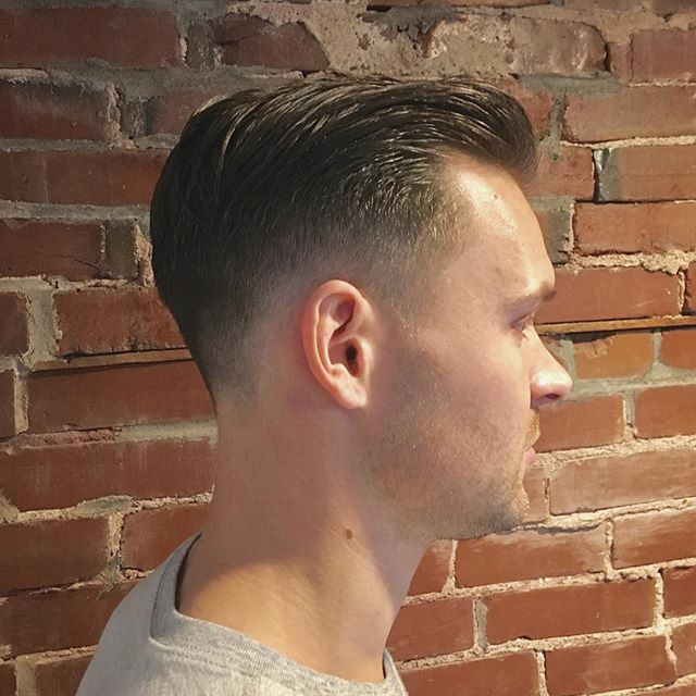 The deli is open, now serving #coldcuts -Styled with #odouds water based pomade. #smashedidolshair #stlstylist #stlhair #menshair
