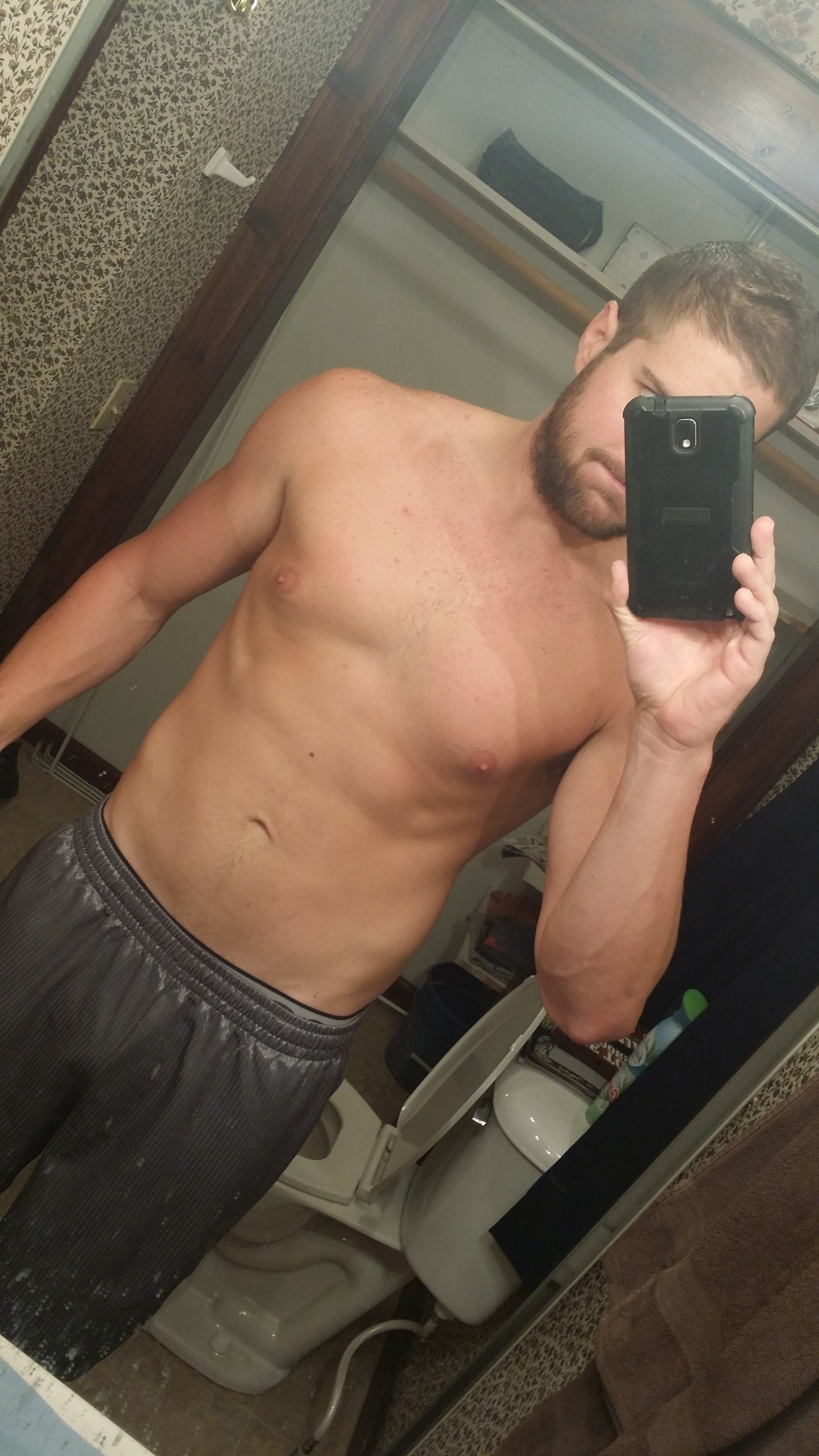The leanest I have ever been.  Had gotten down to 193 pounds during a juice fast.