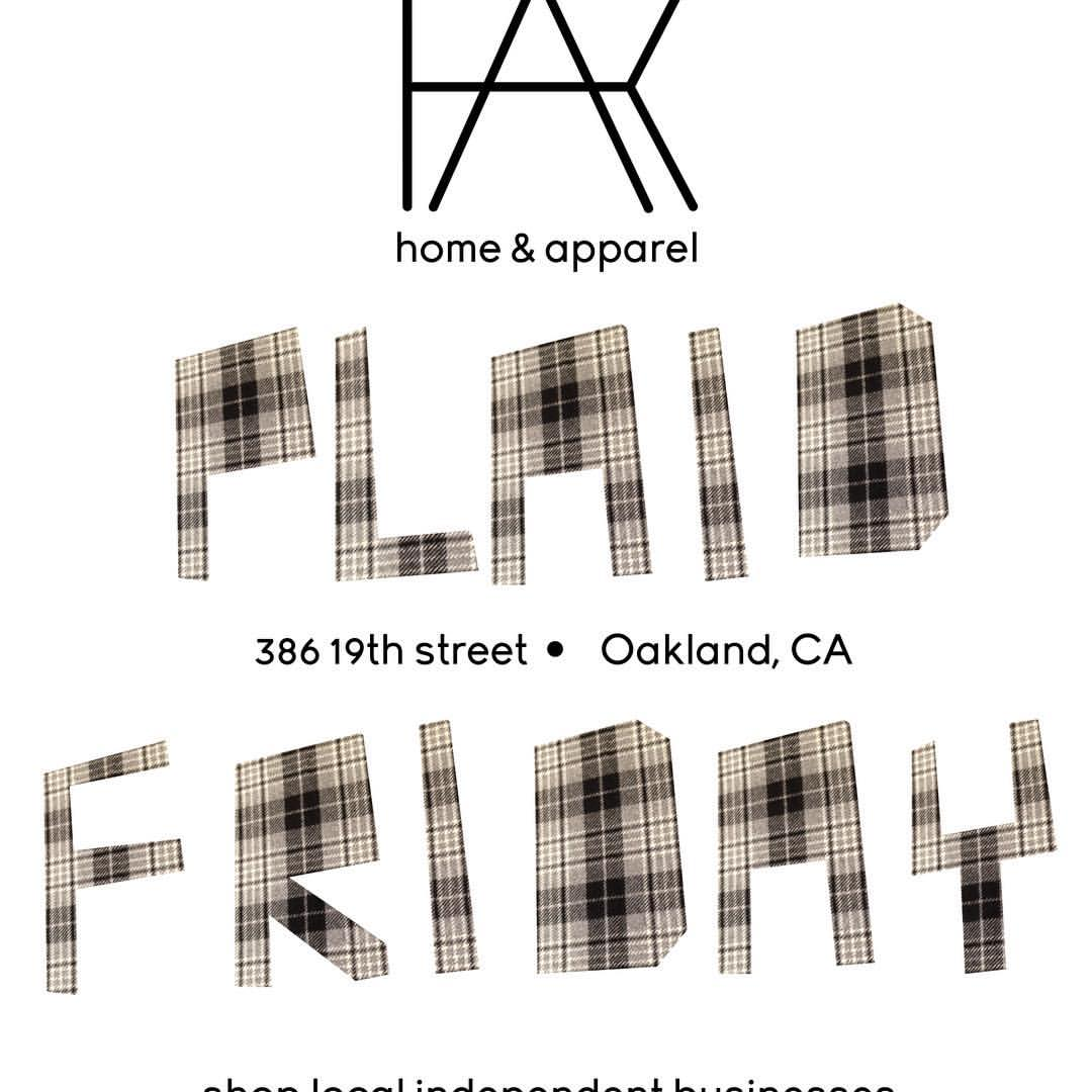 Support Local! Come by @kosa_arts for a map of local independent businesses. #thisisoakland #plaidfriday #19thstreetoakland #artisan #bayarealove  (at KOSA ARTS)