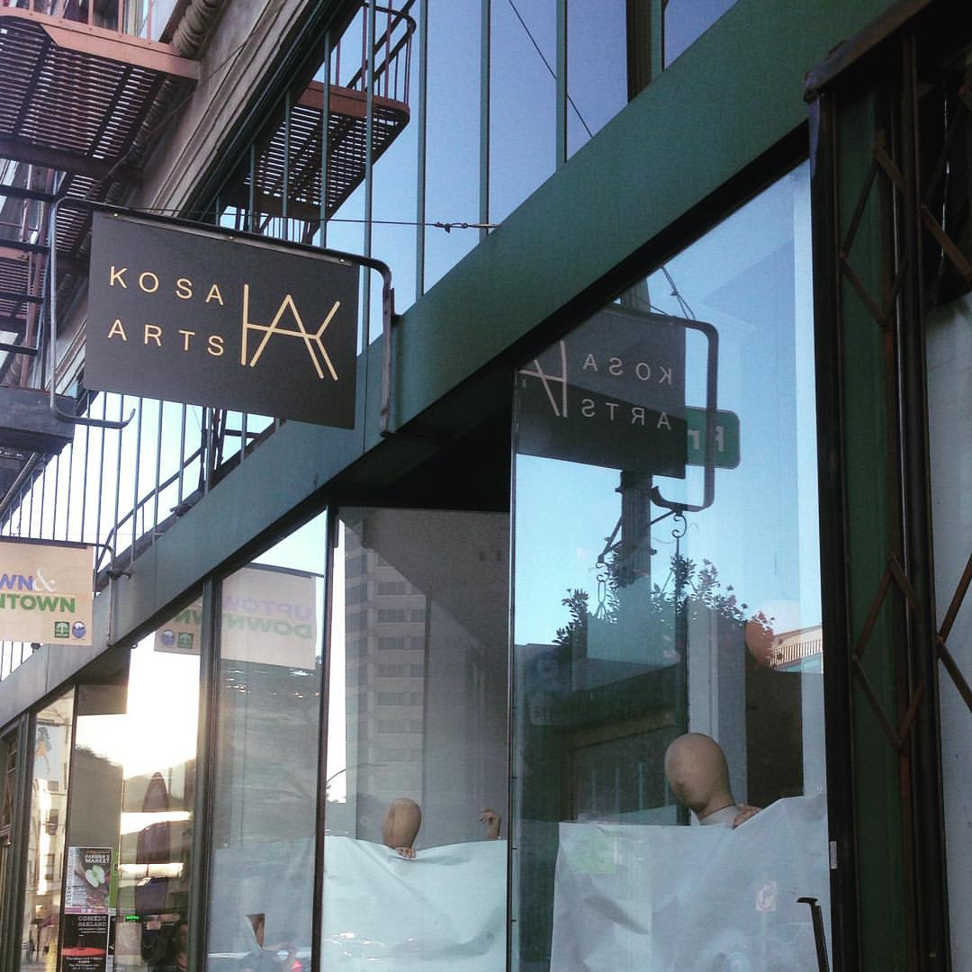 Hello, my name is… Kosa!  New sign! #newshopintown #19thstreetoakland #oakland #shoplocaloakland