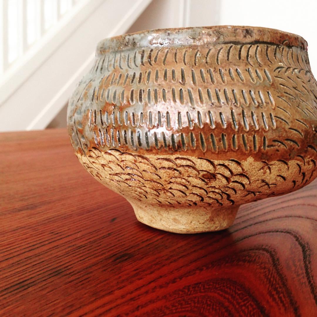 A sneak peak of beautiful work at Kosa Arts…vintage bowl by M. Manchurio #handmade #clay #artisan #wood  (at KOSA ARTS)
