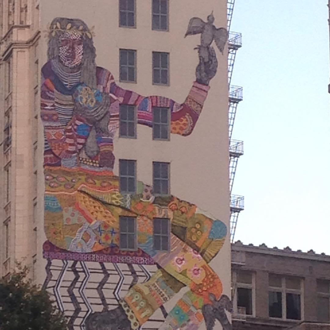 Good morning Oakland!                     Zio Ziegler Mural