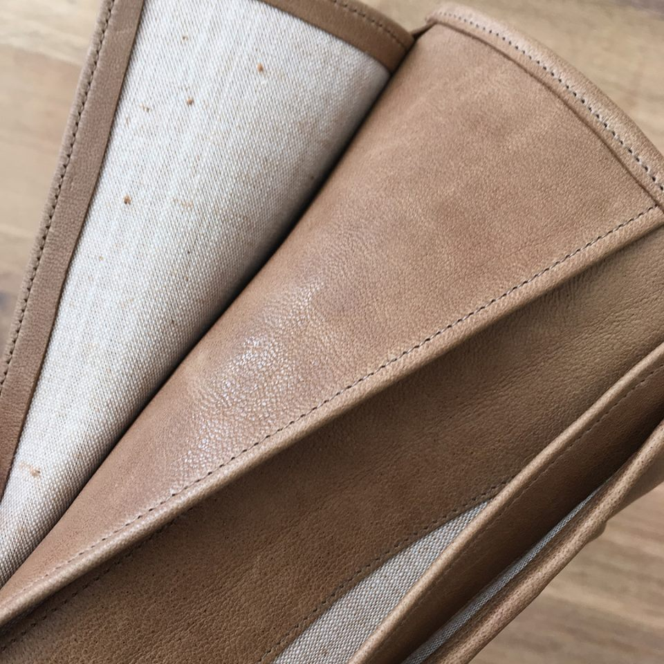Leather Wallet, details.