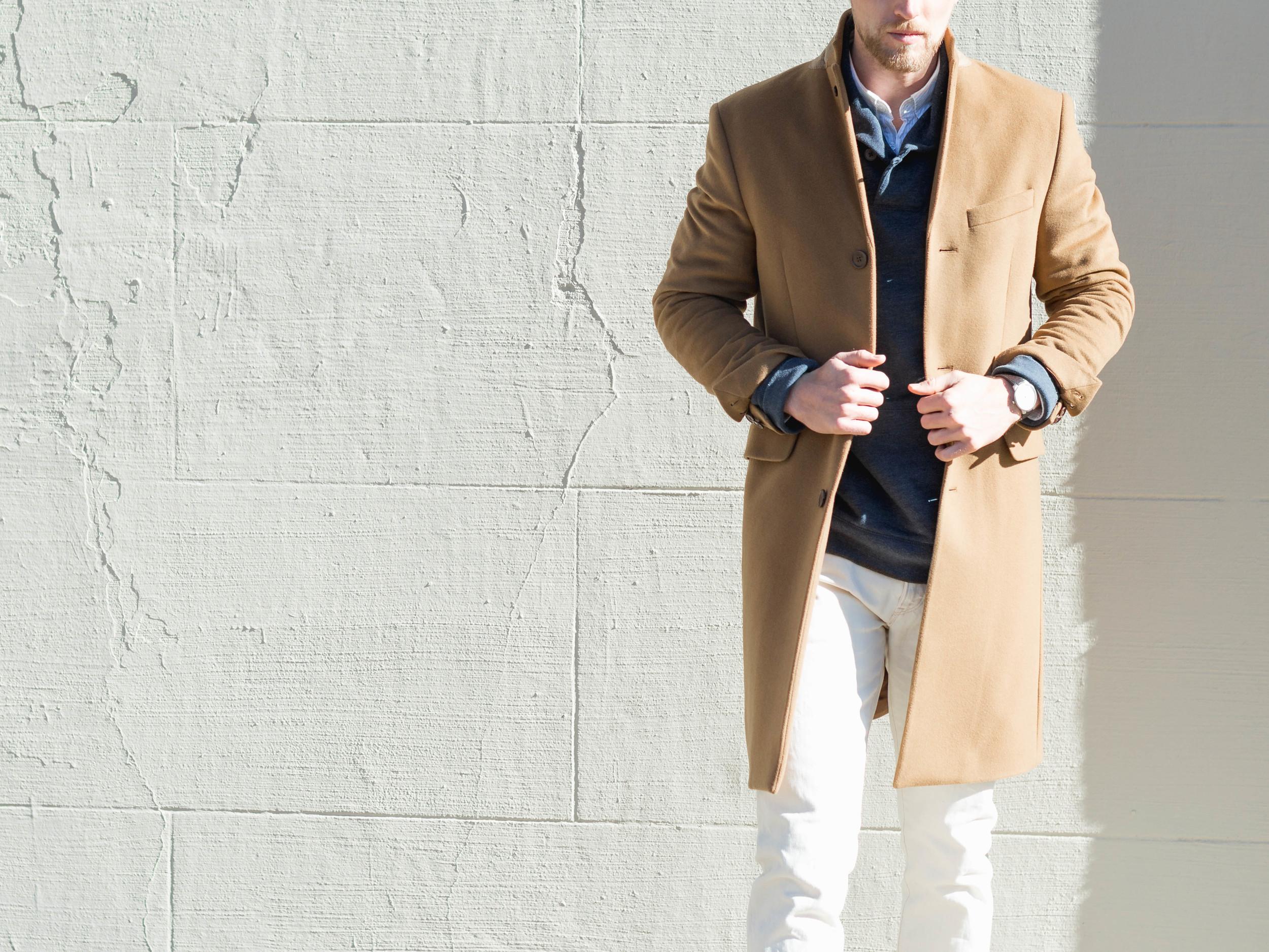 mens fashion camel coat the cuff