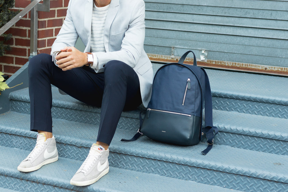 how to wear a backpack like a grownup