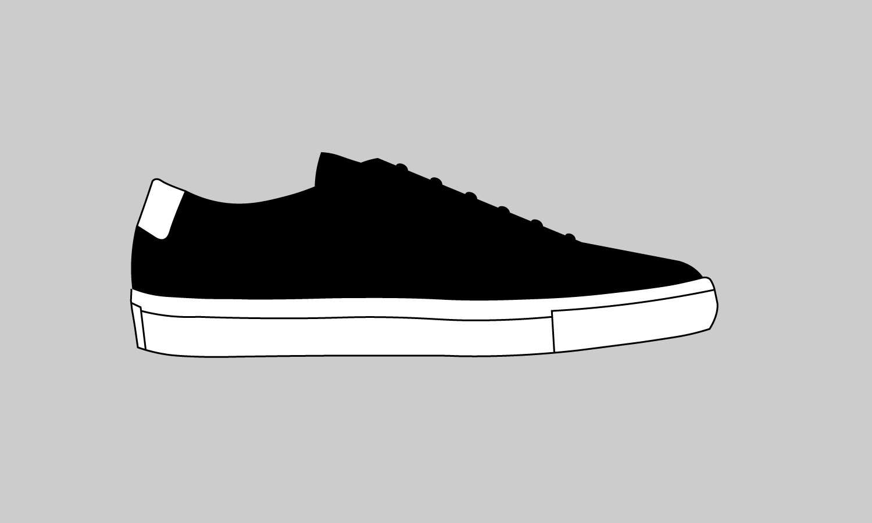 the cuff black sneakers