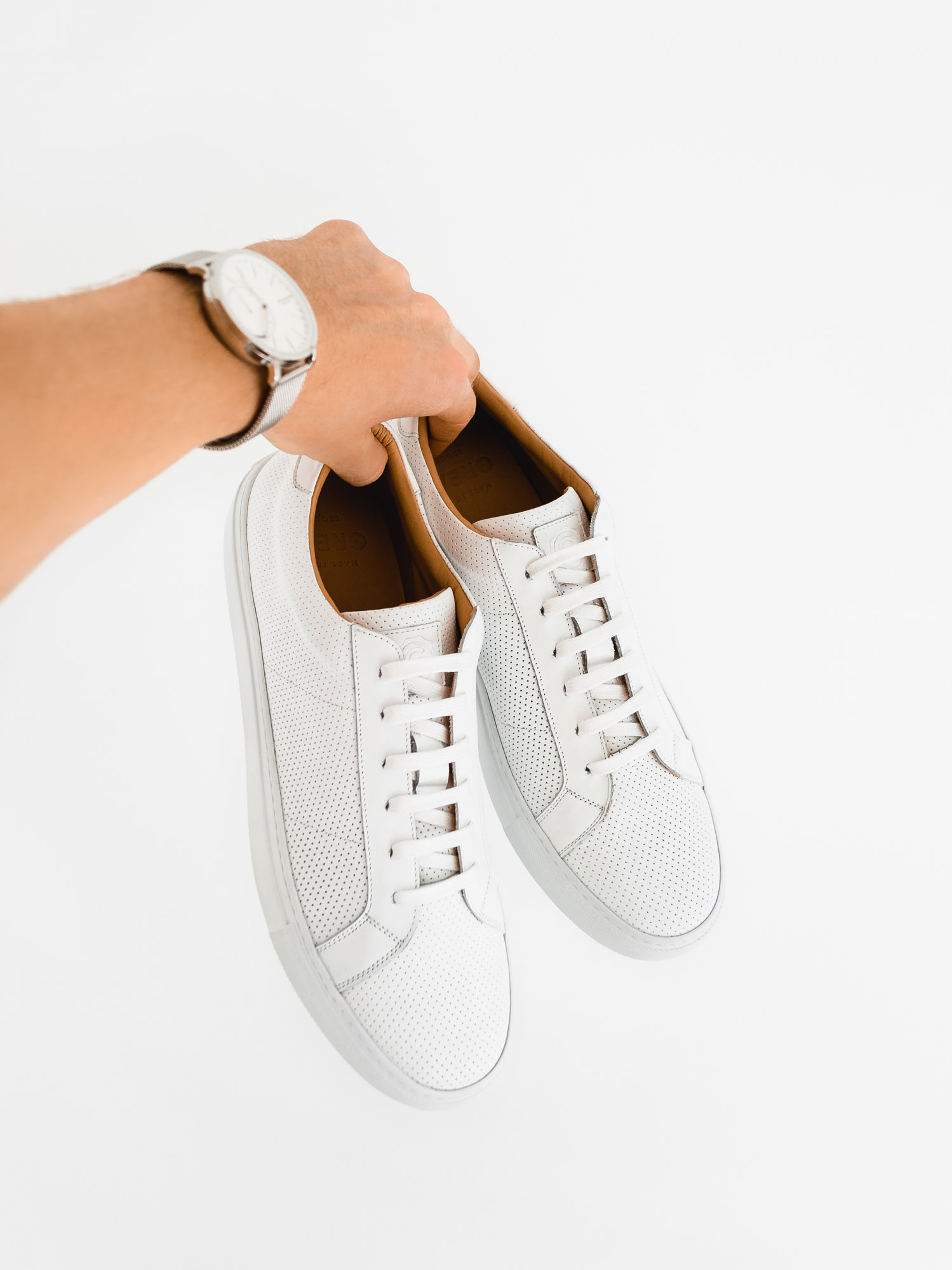 greats brand royale blanco perforated