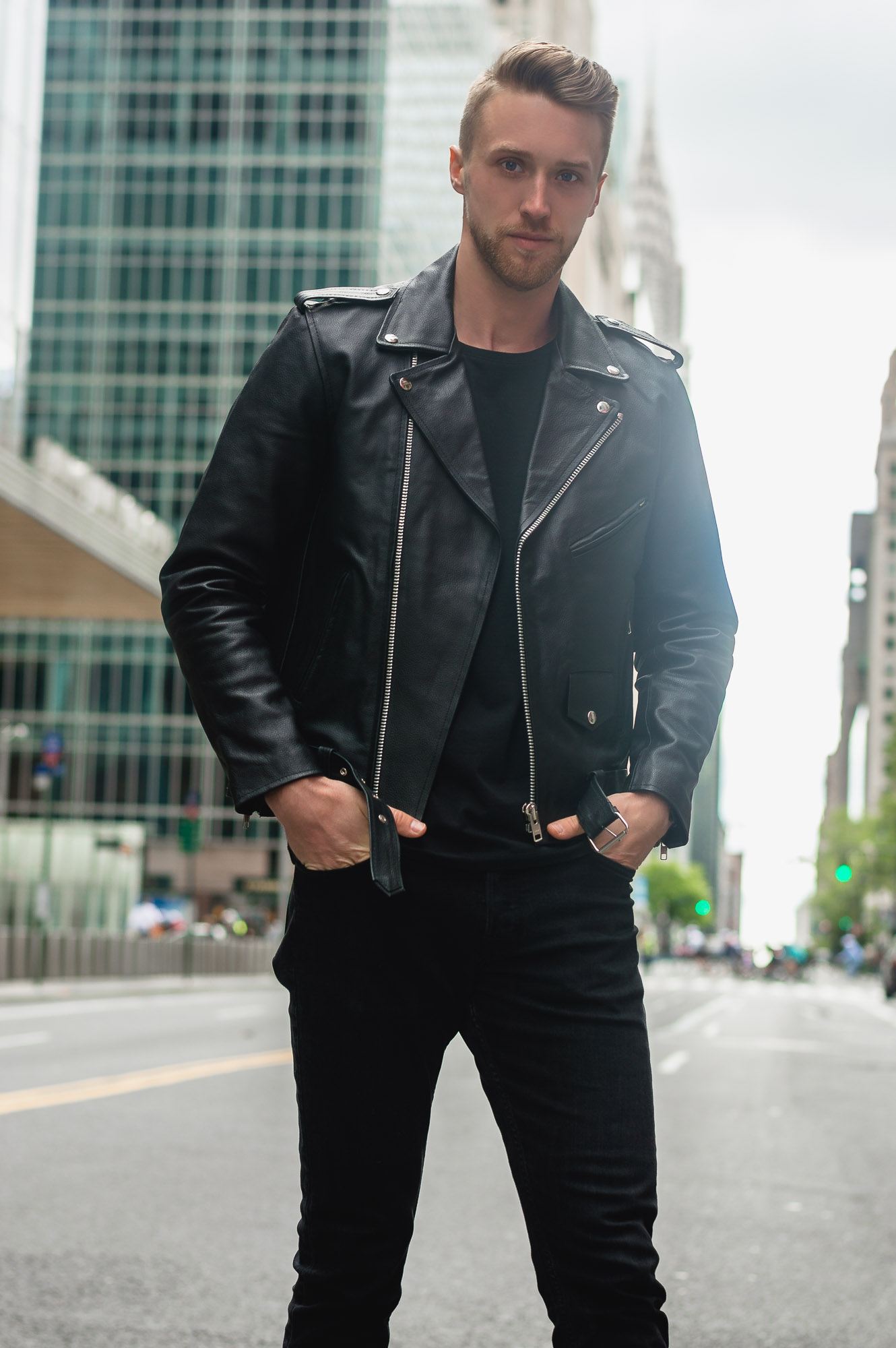 Reclaimed Vintage Inspired Leather Biker Jacket ASOS