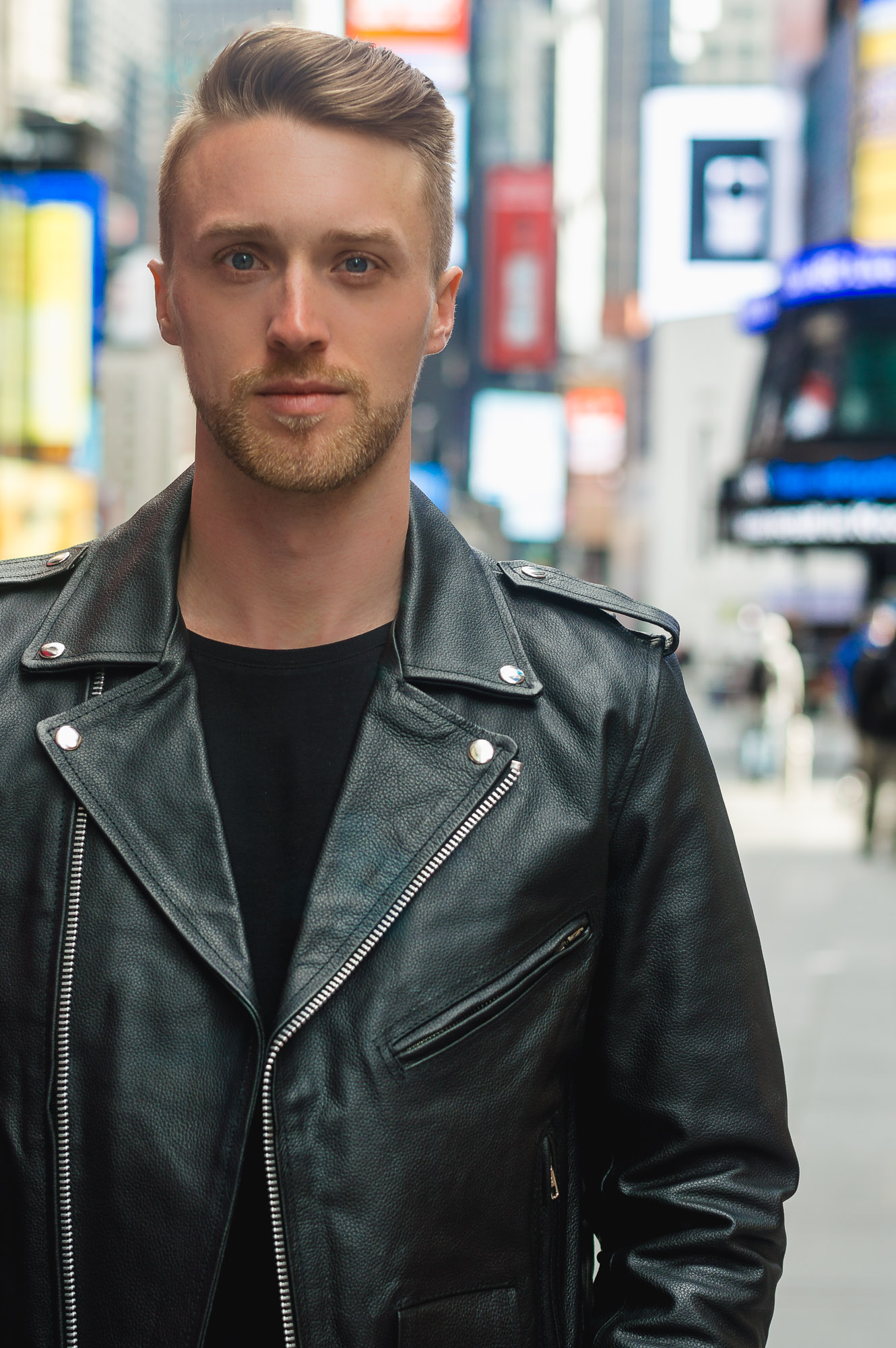 Reclaimed Vintage Inspired Leather Biker Jacket ASOS