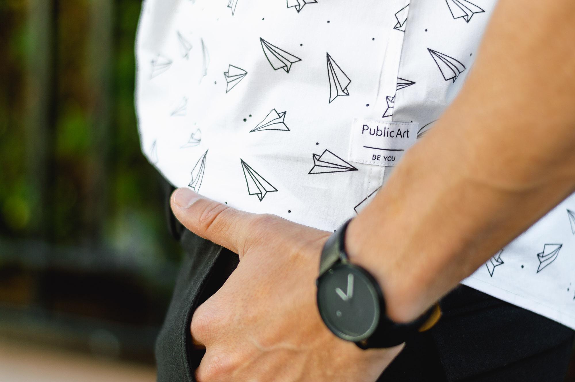 sharply paper planes shirt