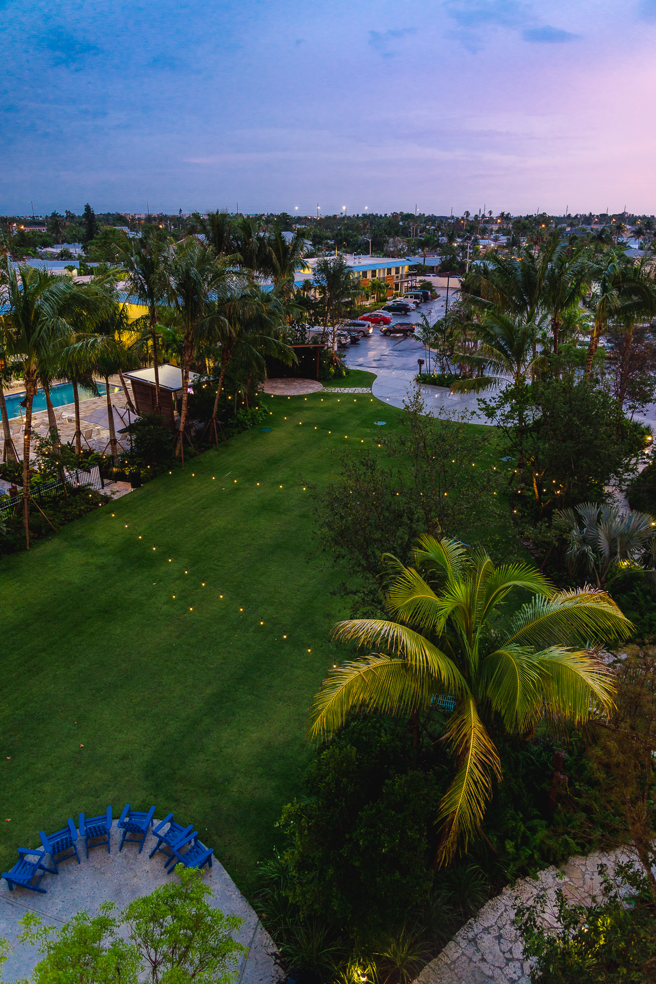 24 north hotel key west sunset green
