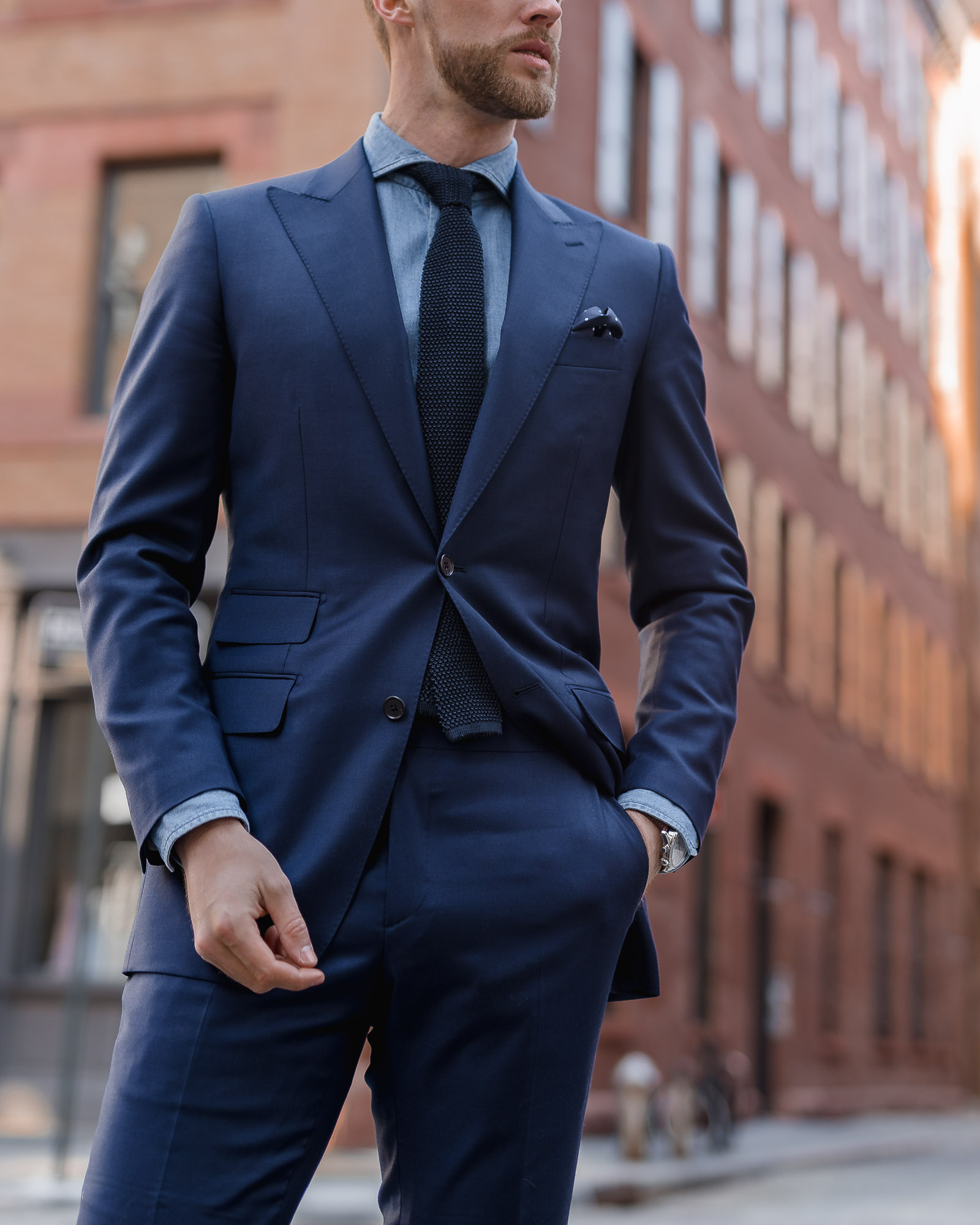 navy custom suit made to measure institchu the cuff