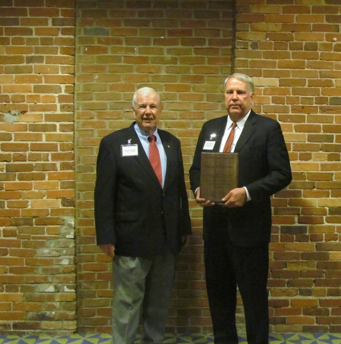 Mr. Steve Singletary (right) with GASWCC Chairman Mr. Garland Thompson (left)