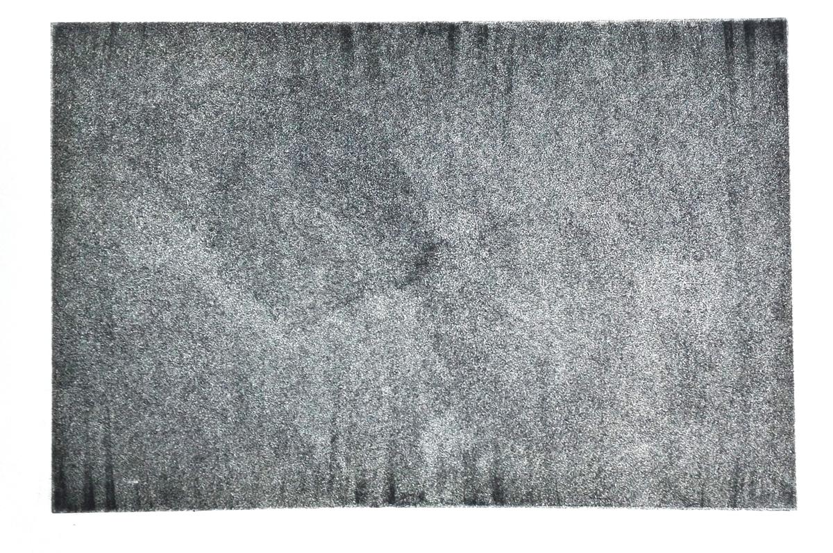 """Dārta Stafecka """"Saplūšana"""" Oforts, 610 x 860 mm, 2016.    Brīvs rokas kustību plūdums, kas atļauj brīvu domu plūdumu."""