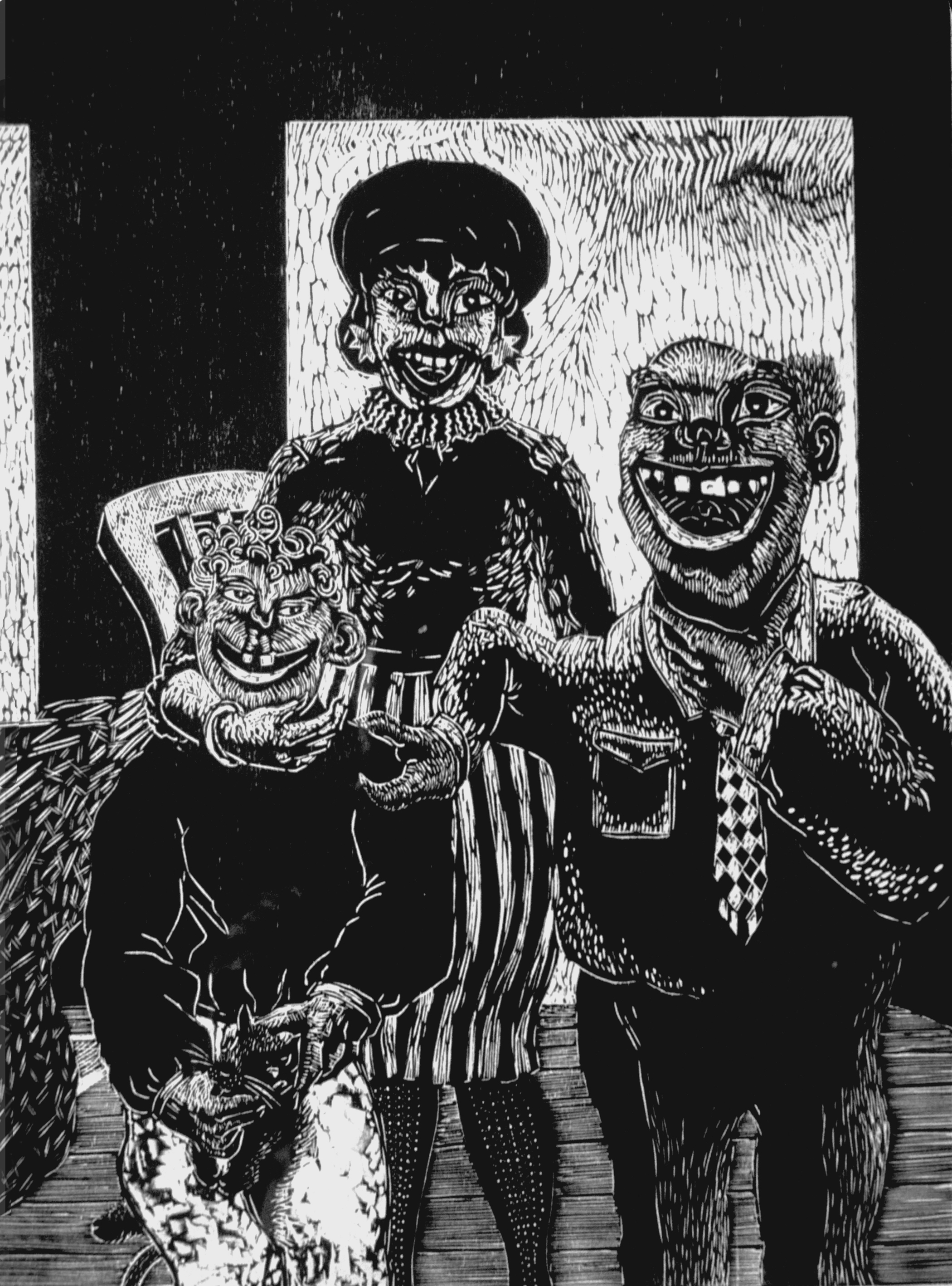 Happy Family_1987_woodcut_61x45.7 cm.jpg