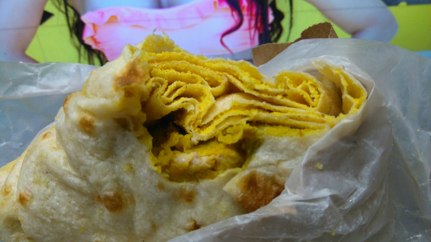 Chicken roti from Radica's - Wednesday Special - $3.32