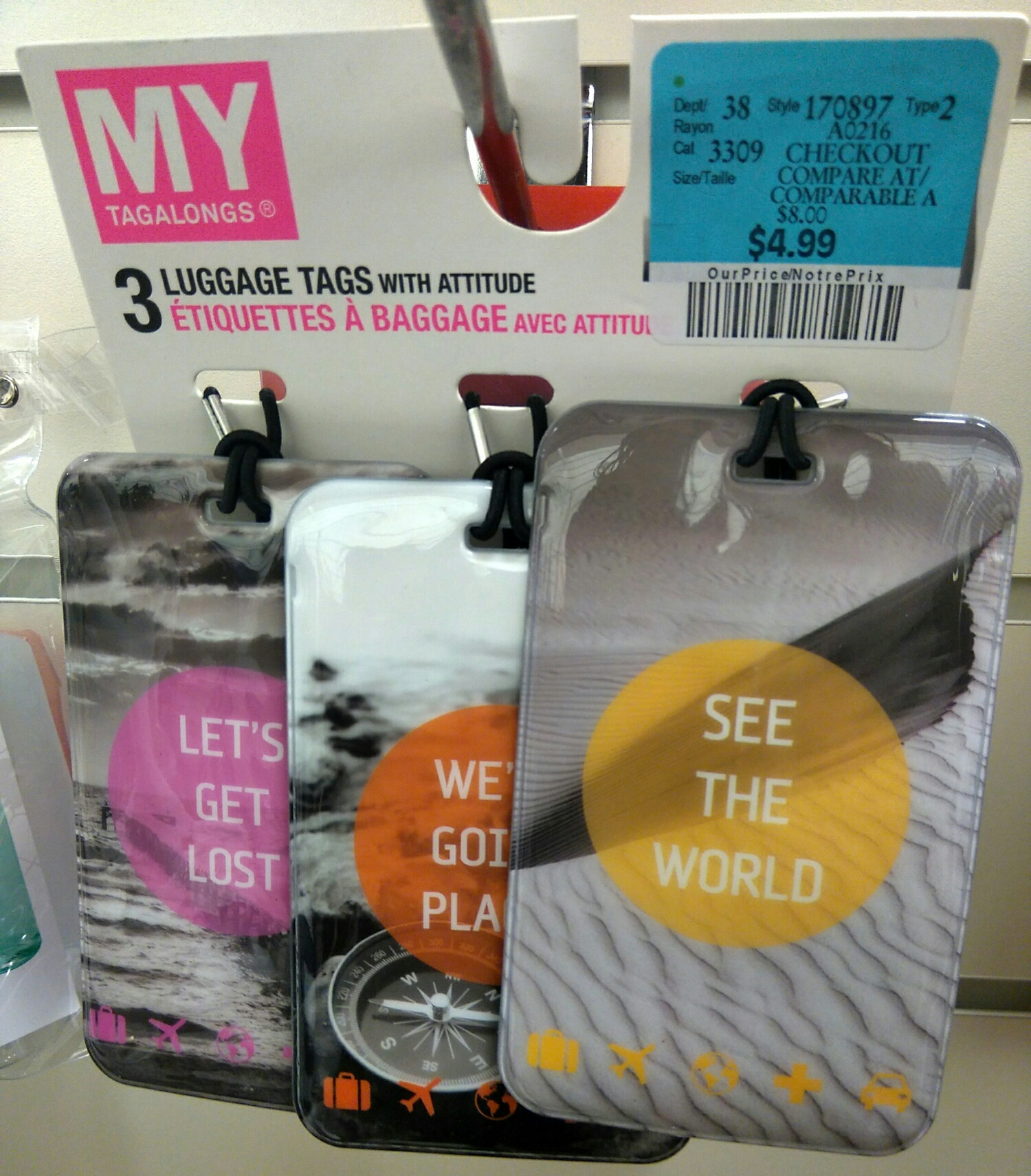 Luggage Tags by Tagalongs - $4.99 CAD