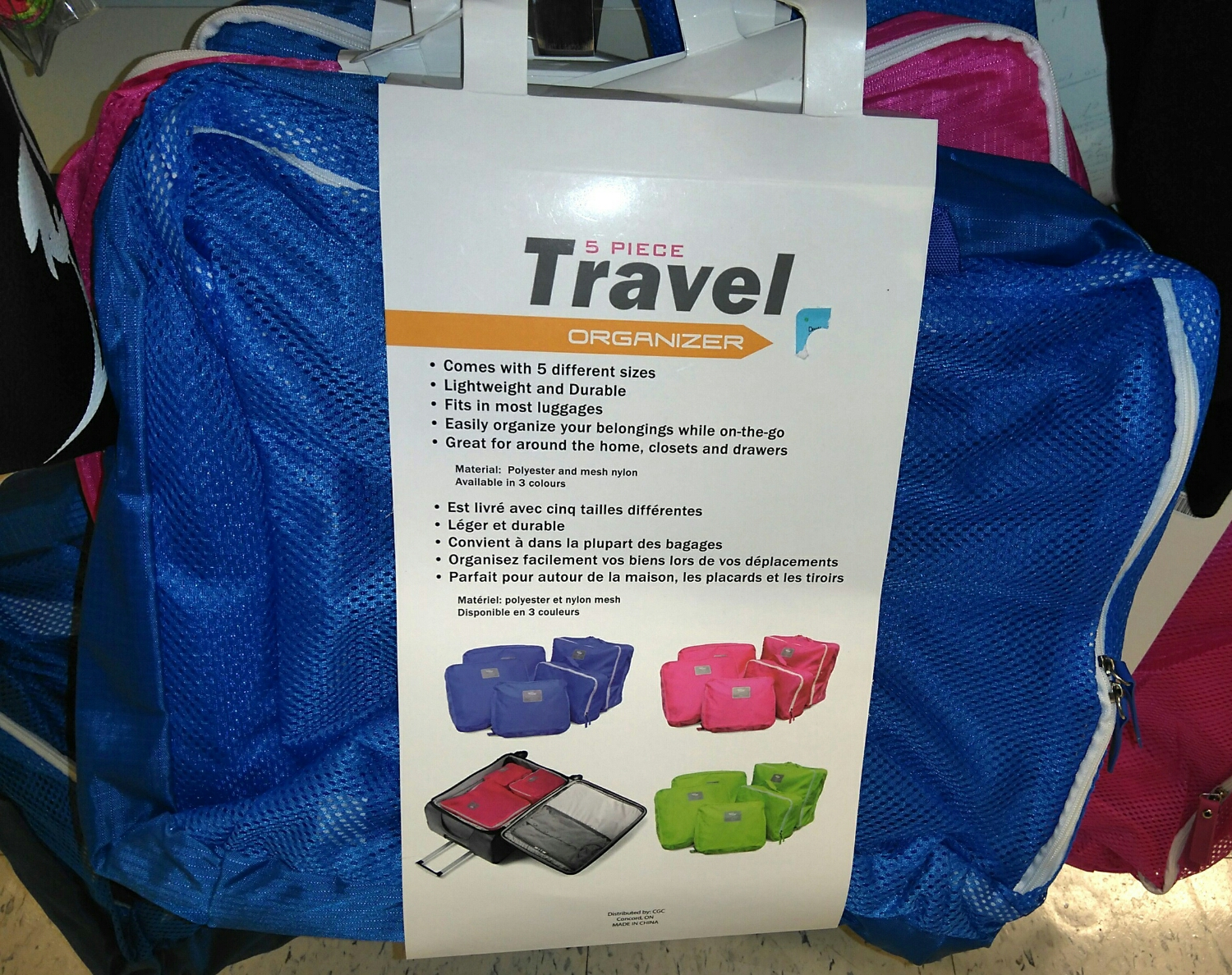 Travel cubes with pizazz - $14.99 CAD